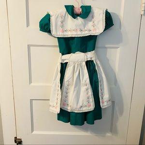 1 of 2 Vintage smocked apron girls dresses!